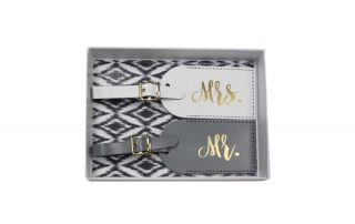 The Paisley Box Mr. and Mrs. Luggage Tags